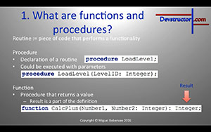 New tutorial: Lazarus Tutorial #9 – functions and procedures, their declarations & benefits